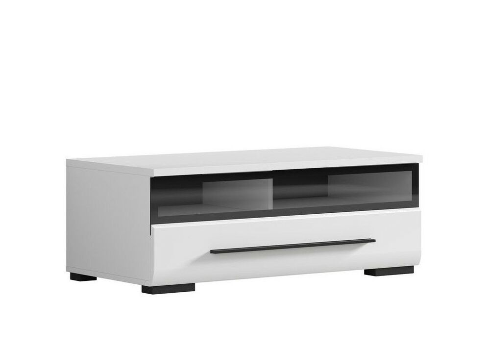 white gloss tv cabinet tv unit entertainment stand glass. Black Bedroom Furniture Sets. Home Design Ideas