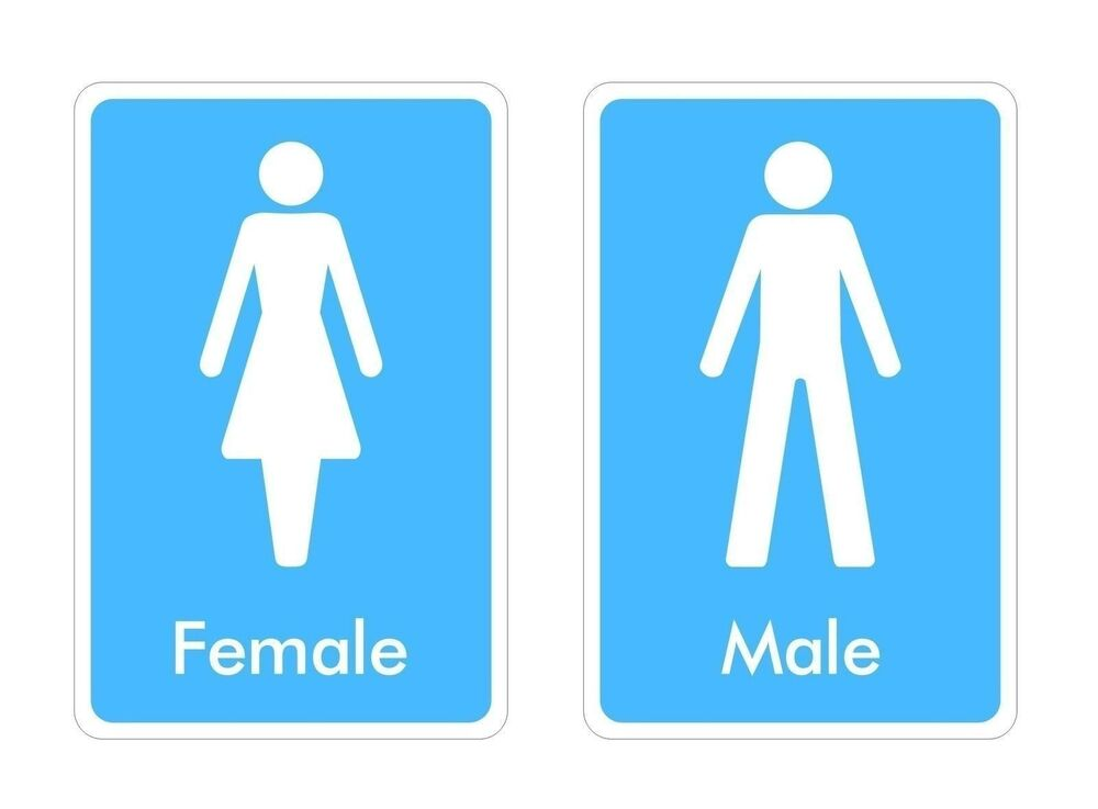 Toilet Signs Sticker Decal Graphic Male Female Vinyl