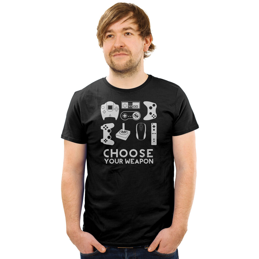 Choose your weapon gamer shirt video game controller tee ...