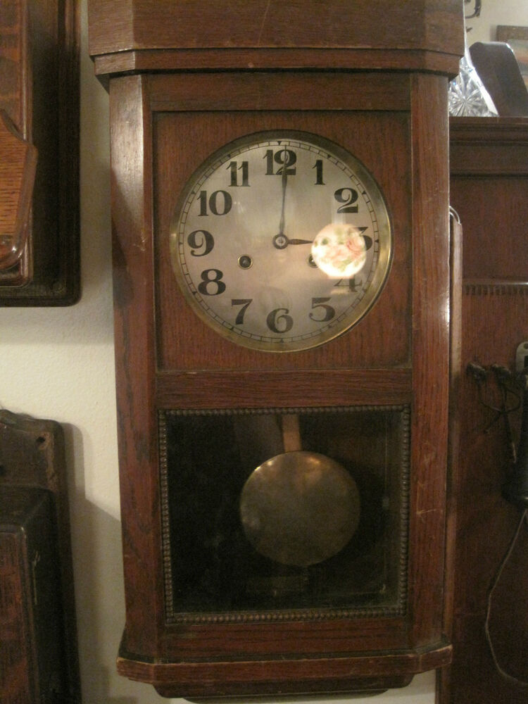 Antique Wall Clock, Junghans Wurttemberg Pendulum Box ...