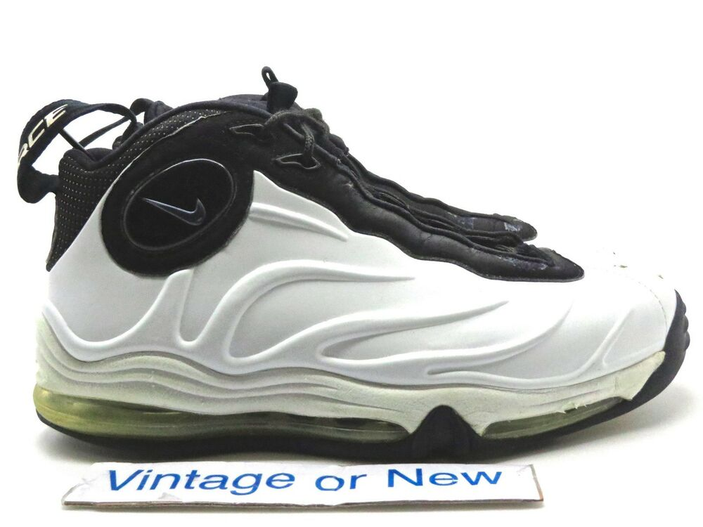 Nike Total Air Foamposite Max White Black Tim Duncan 2004 sz 7.5