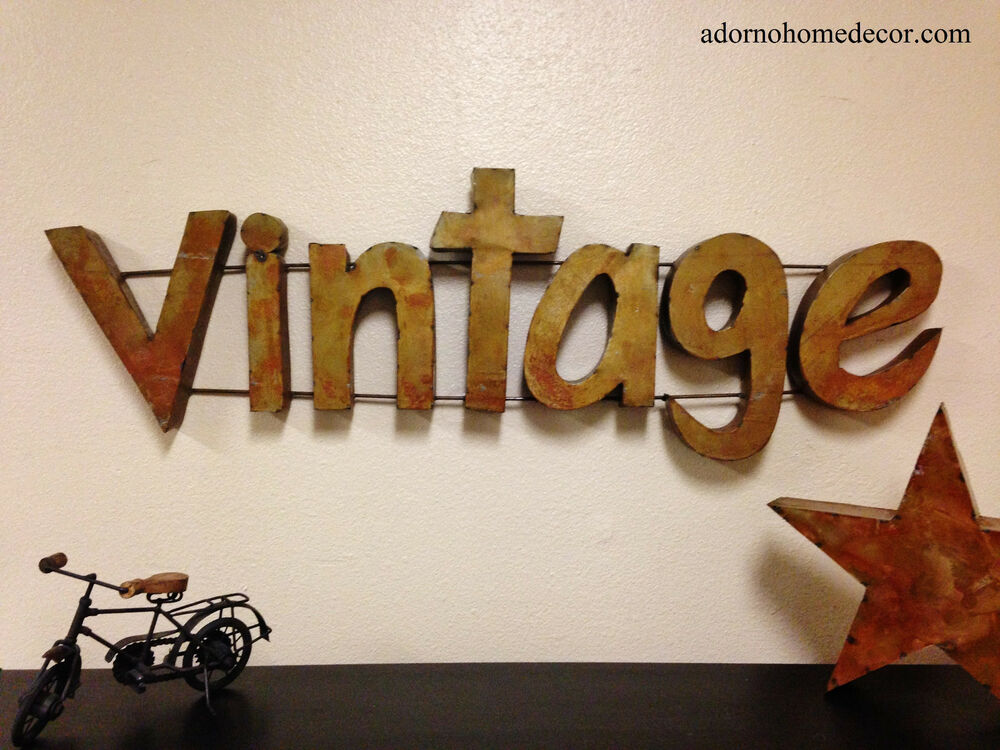 Antique Signs Wall Decor : Rustic metal vintage sign wall decor industrial antique