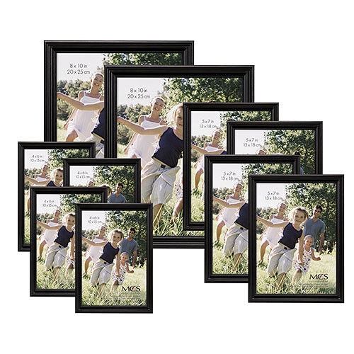Office Wall Decor Set : Black wood picture collage frames set photos wall decor