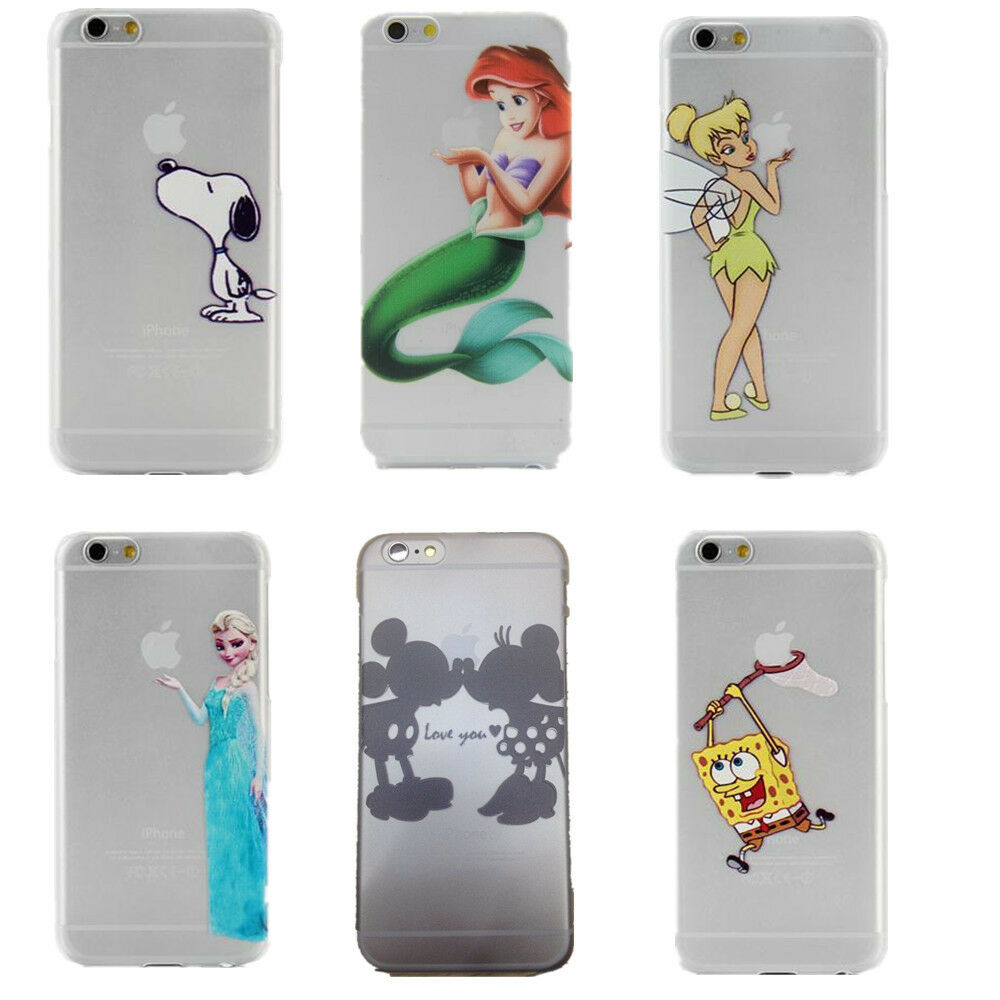 Cartoon Characters Iphone 6 Cases : Disney characters cartoon snoopy dog transparent case