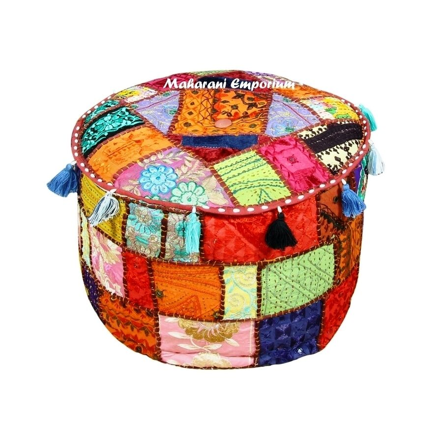 Decorative Floor Pillows Cushions : Traditional Decorative Ottoman Comfortable Floor Cushion Cover Foot Stool Cover eBay