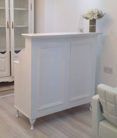 reception desk cash desk salon and retail french style shabby chic ebay. Black Bedroom Furniture Sets. Home Design Ideas