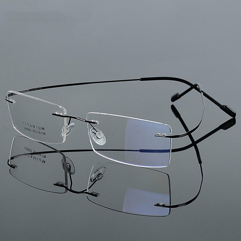 Ultra-Light ? Titanium Mens Womens Myopia Glasses Rimless ...
