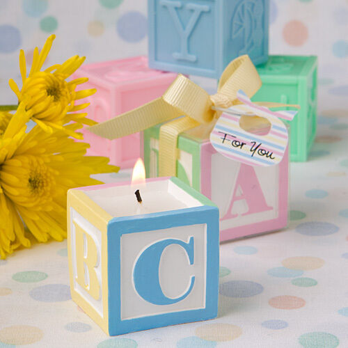abc baby block design scented candle baby shower favors ebay
