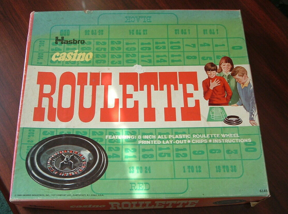 vintage hasbro casino roulette game 1969 family game free shipping ebay. Black Bedroom Furniture Sets. Home Design Ideas