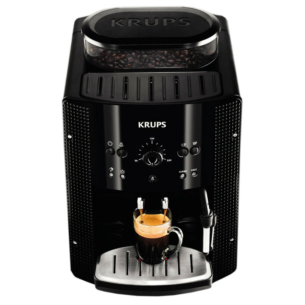 krups ea 8108 fully automatic cappuccino espresso coffee machine black ebay. Black Bedroom Furniture Sets. Home Design Ideas