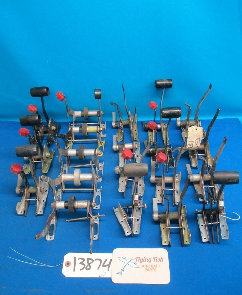 Lot Of Various Control Quadrant Assembly Parts Cessna Piper Aircraft Accessories Beechcraft 13874 Ebay