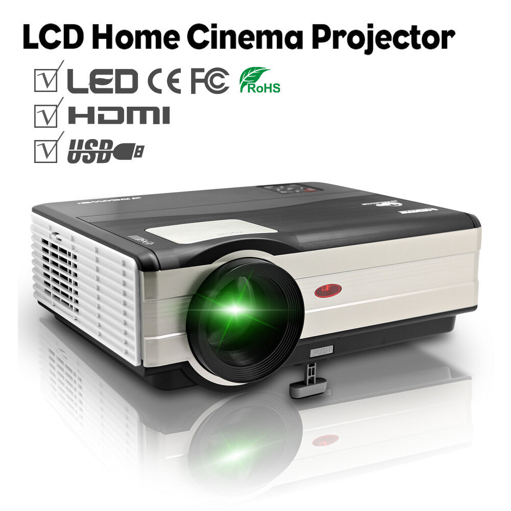 Led Lcd Projector X7 Home Cinema Theater Multimedia Led: Full HD LED LCD Home Projector Cinema Theater Movie Game