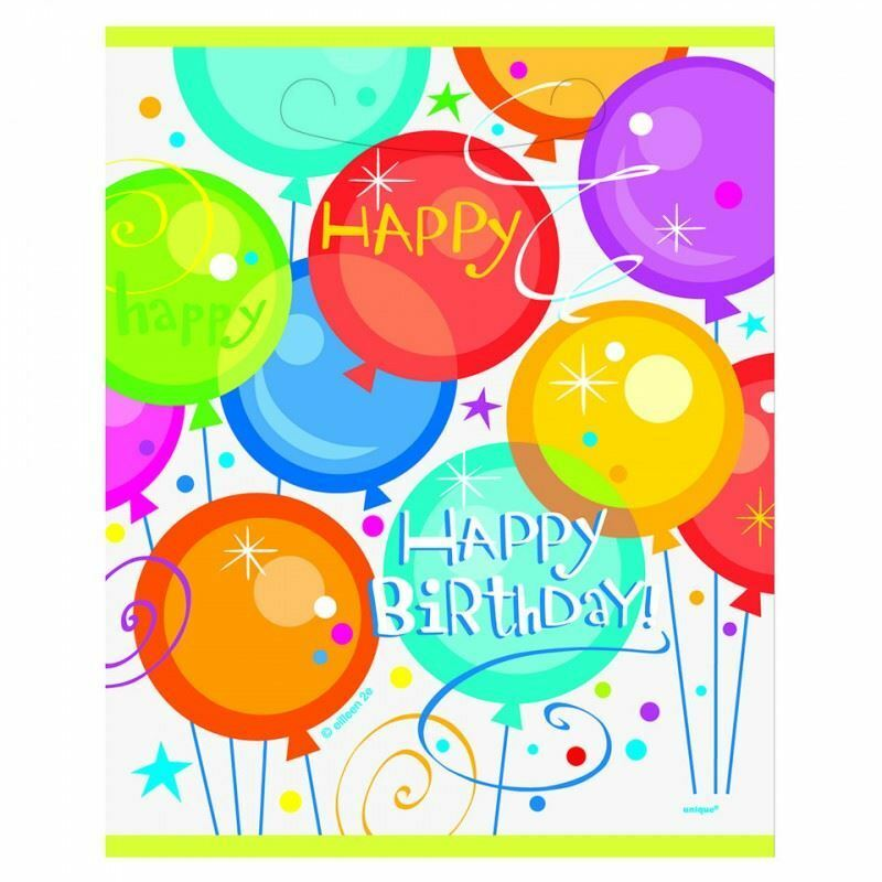 8 Happy Birthday Pops Loot Bags Party Supplies Filler