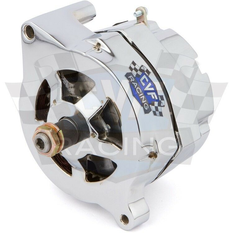 ford 1-wire alternator chrome 100 amp 302 351w 351c 390 ... ford one wire alternator wiring #1