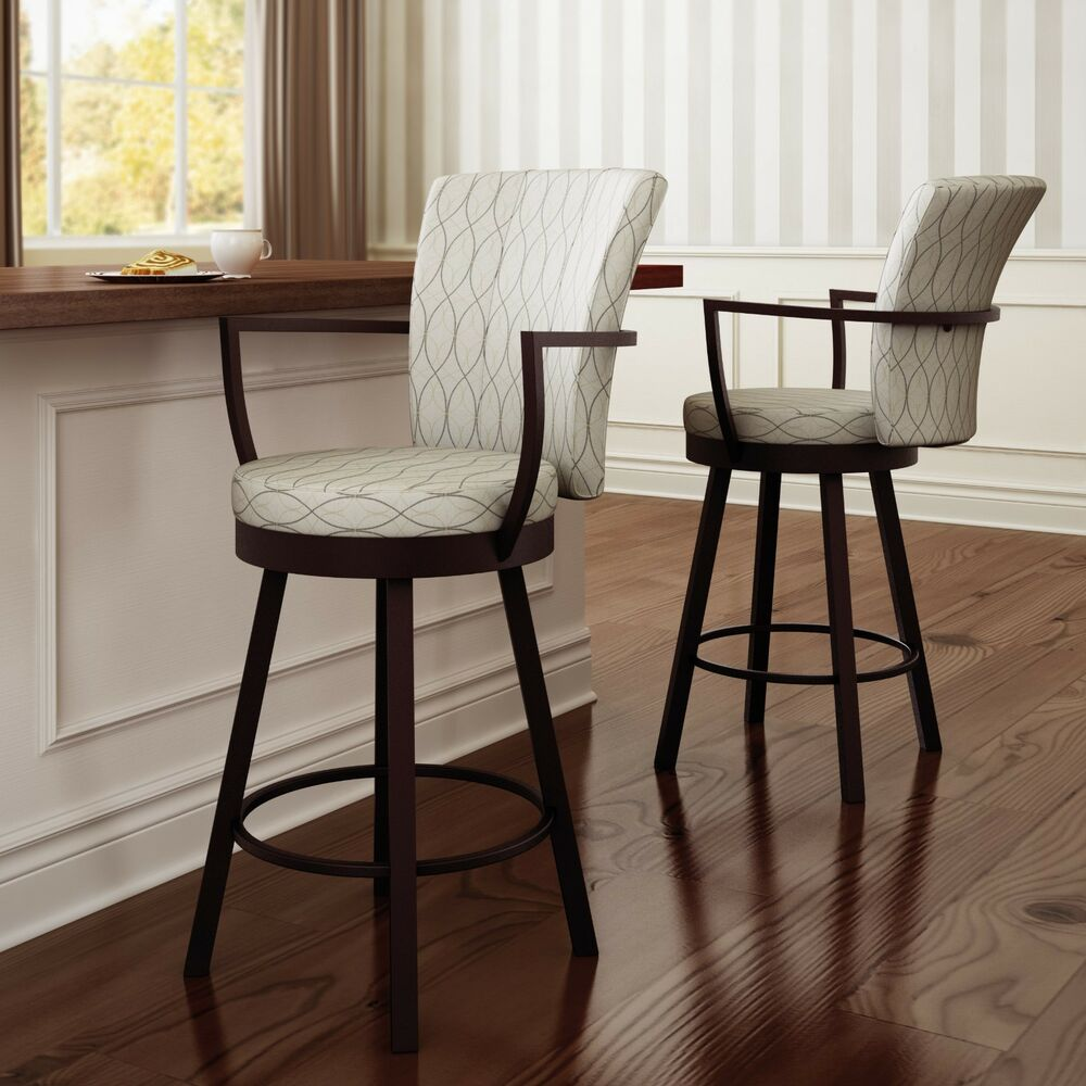 Amisco Cardin Swivel Counter Bar Stool Or Spectator Stool