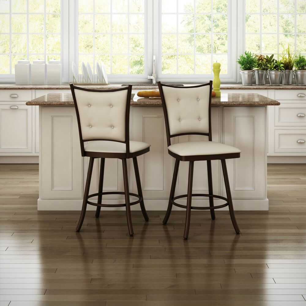 Amisco Paula Swivel Counter Bar Stool Or Spectator Stool