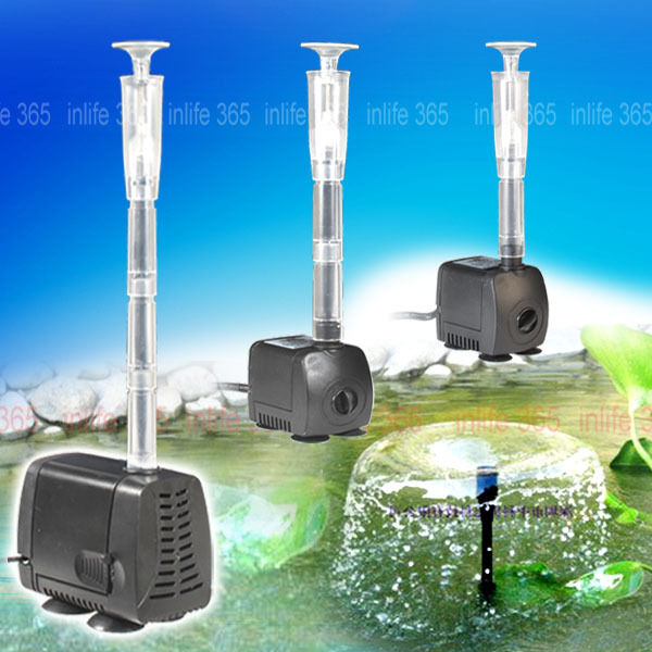 Vus submersible pump aquarium pond water hydroponic fish for Fish tank in pond