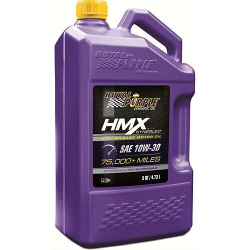 Royal purple 11750 hmx high mileage synthetic motor oil for What s the difference between 5w30 and 10w30 motor oil