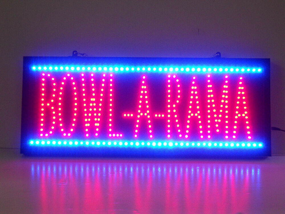 Led Neon Sign Bowl Bowling Ball Alley Bowl A Rama Bowler