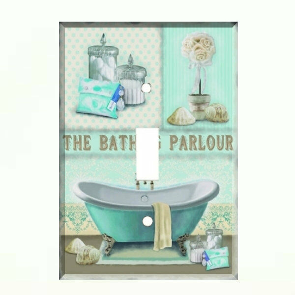 bath parlour light switch plate wall cover bathroom decor ebay On bathroom plate