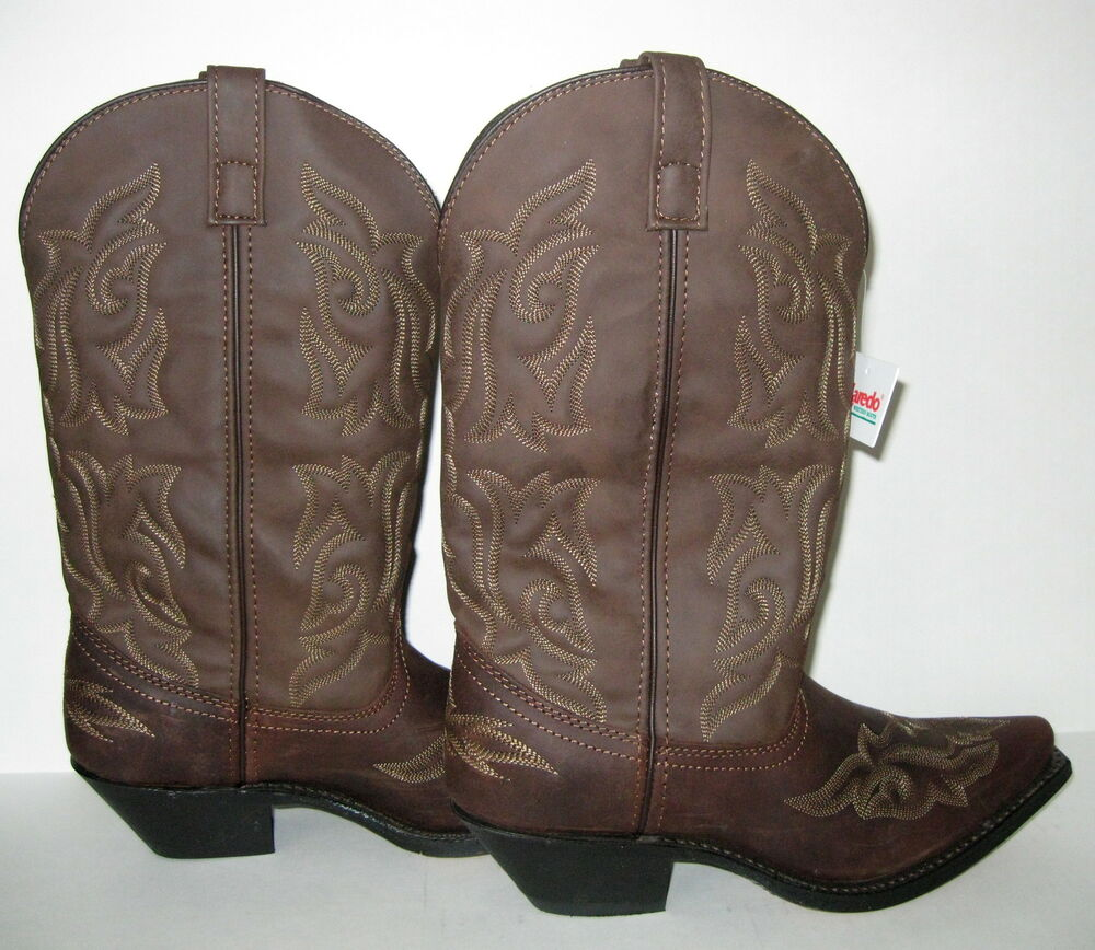 new laredo 5404 runaway brown leather cowboy western boots
