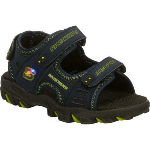 new boy 39 s skechers 90050l afterburn s slog light up sport sandals 1. Black Bedroom Furniture Sets. Home Design Ideas