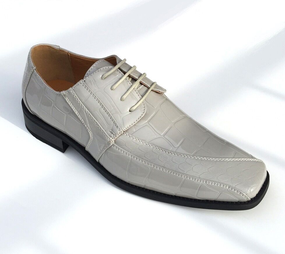 Mens Silver Shoes Casual