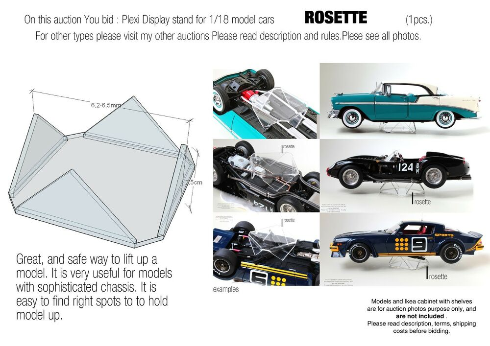 Display Stand /Support For 1:18 Model Cars   For AutoArt, Exoto, CMC  *ROSETTE* | EBay  Car Description