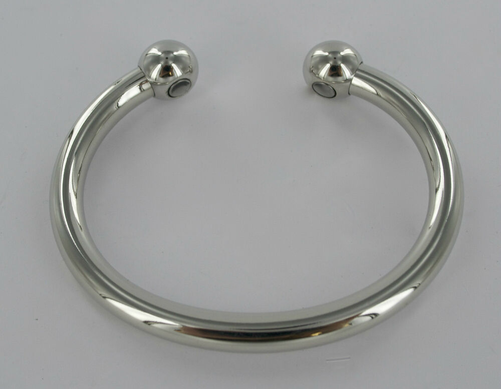 Shiny Magnetic White Copper Torque Bangle Bracelet Health