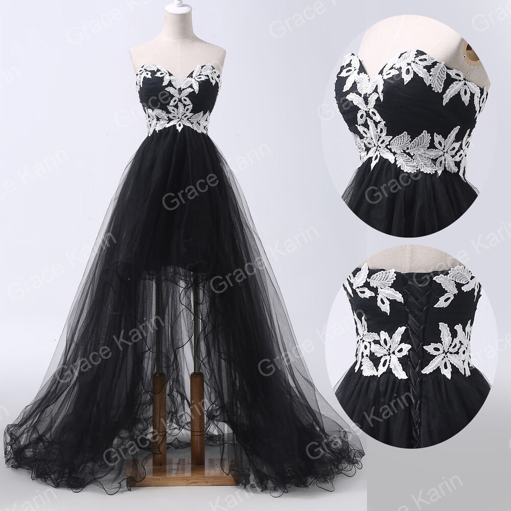 Plus Size Prom Ball Gowns: Sweetheart Black Ball Gown Evening Homecoming Party Prom