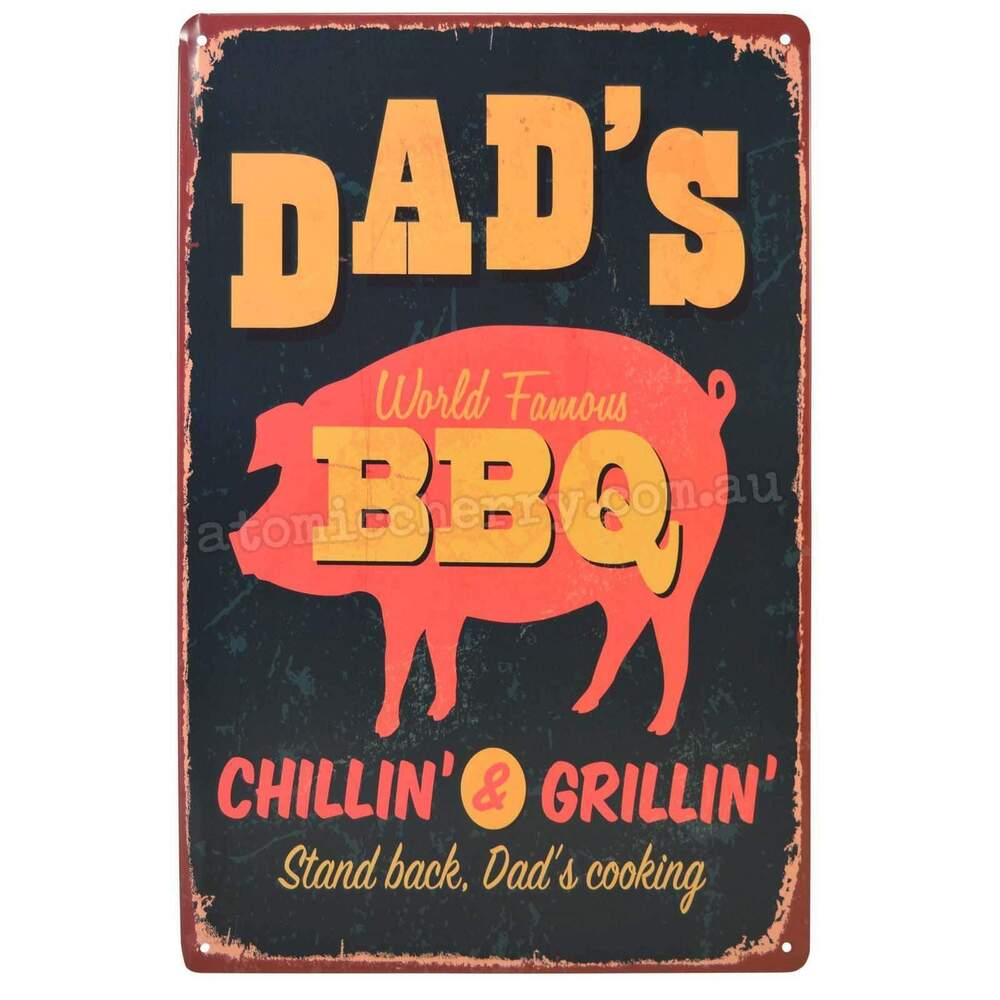 Metal Signs For Home Decor: Dads BBQ Retro Metal Tin Sign Homewares Decor Kitsch Roast