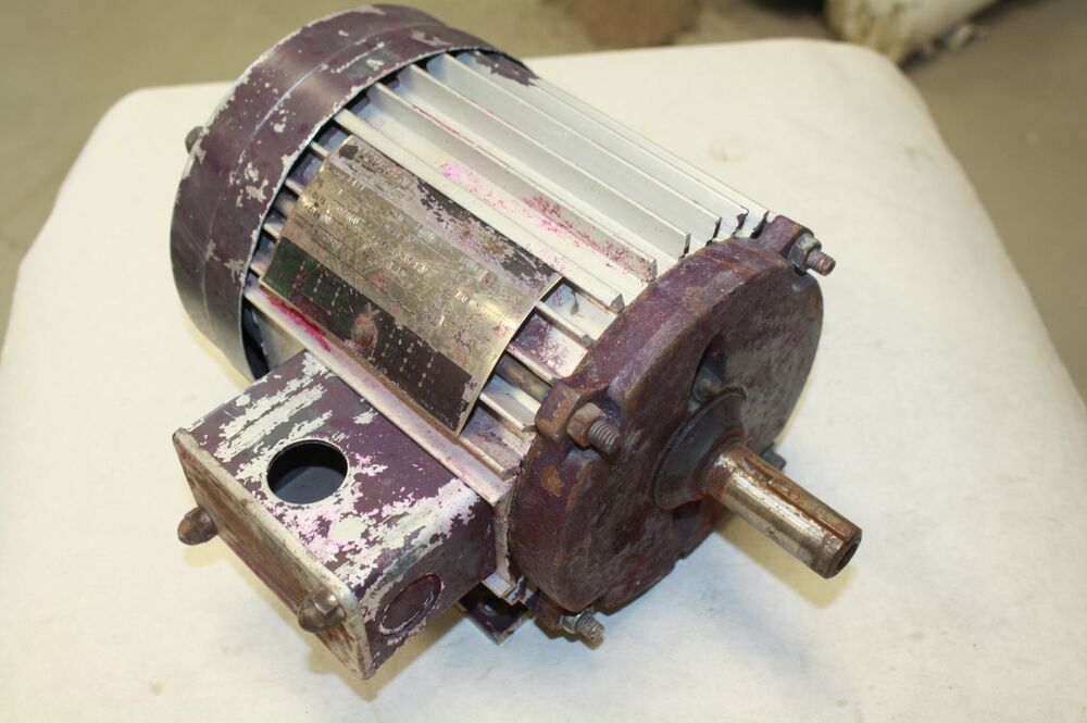 Lincoln t 2508 electric motor 1 hp 230 460 volt 1740 rpm for 3 phase 3hp motor