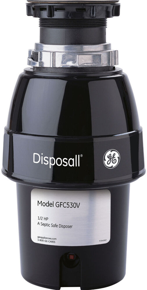 badger 1 2 hp garbage disposal new ge disposall 1 2 hp continuous feed food waste 9073