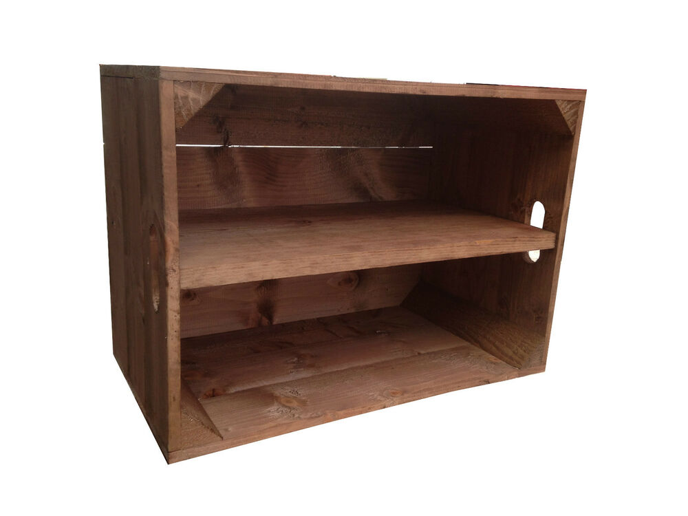 Crates4you standard wooden apple crate box with long for Apple crate furniture