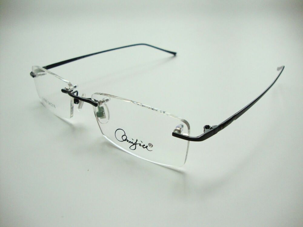 new s metal myopia glasses rimless eyeglasses frames optical eyewear rx able ebay