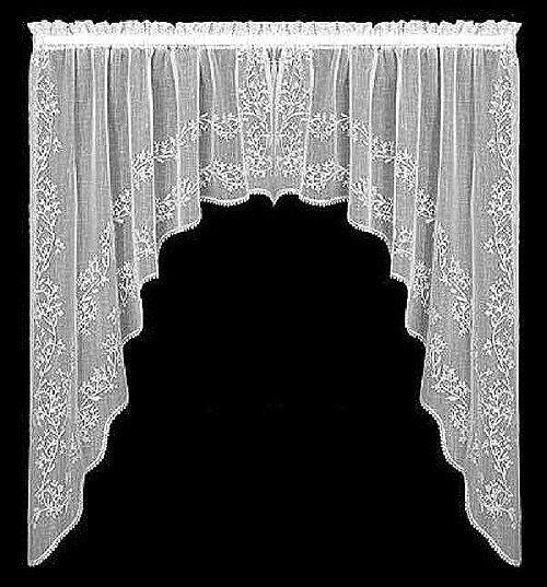 elegant and perfectly divine sheer 88 x 63 lace swag pairs and 84 panels ebay. Black Bedroom Furniture Sets. Home Design Ideas