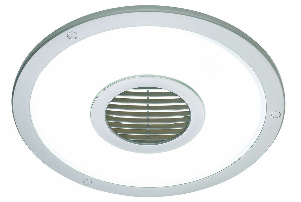 round bathroom light silver heller 250mm ceiling light exhaust fan air 14253
