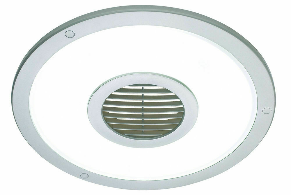 Silver heller round 250mm ceiling light exhaust fan air flow bathroom laundry ebay Round exhaust fans for bathroom