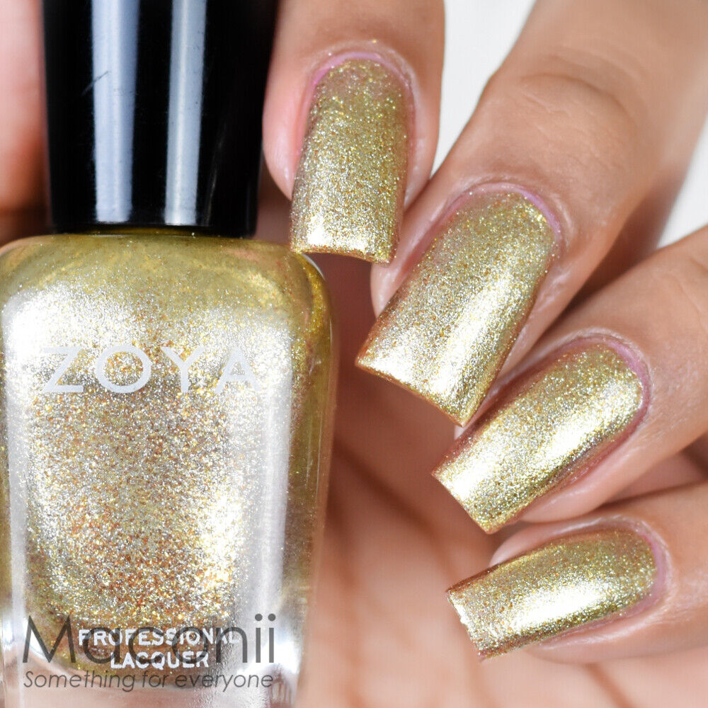 Metallic Gold Nail Polish: Metallic Gold Flake With Silver Flecks Glitter