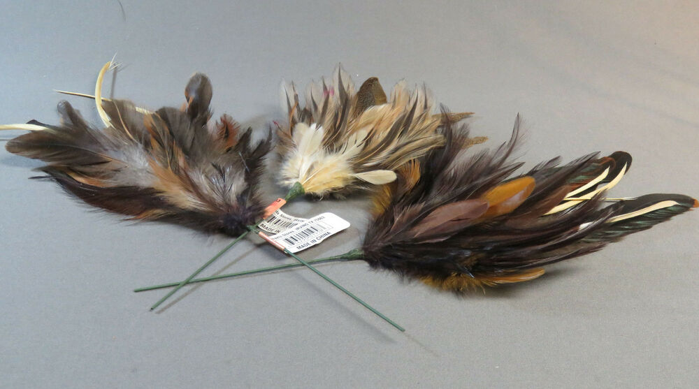 Assorted feathers on wire 3 arts crafts neede felting fly for Where can i buy feathers for crafts