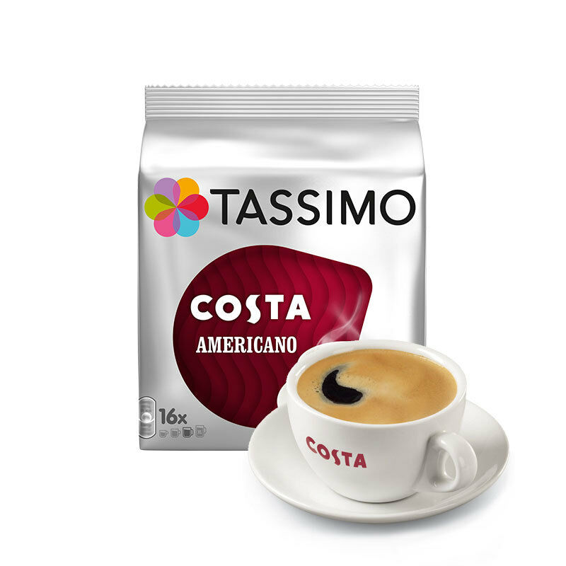 tassimo costa americano t discs coffee pods ebay. Black Bedroom Furniture Sets. Home Design Ideas