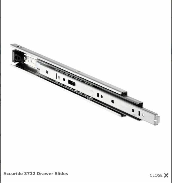 22 Quot Accuride 3732 Full Extension Drawer Slides One Pair