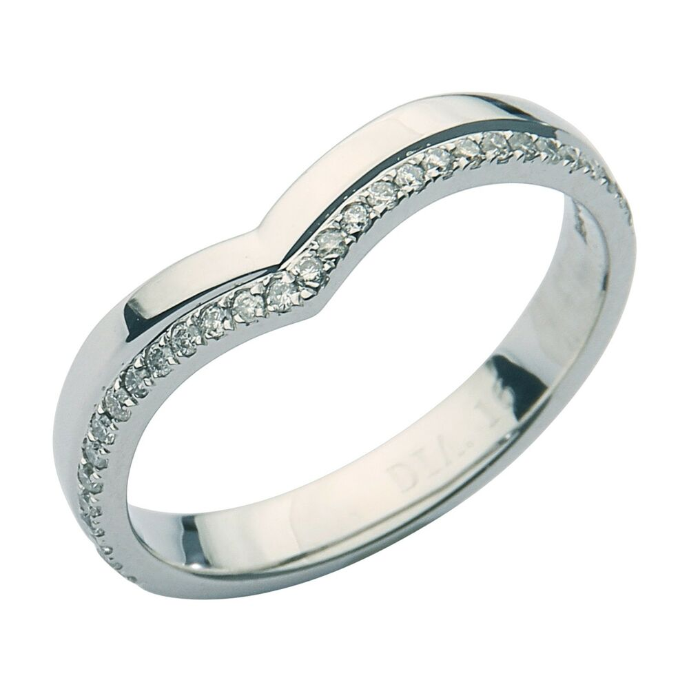 Wishbone Eternity Ring Platinum