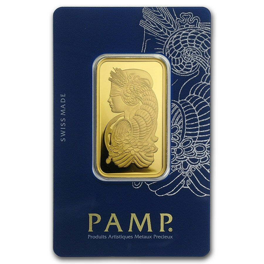 1 Oz Gold Bar Pamp Suisse Lady Fortuna In Assay Veriscan