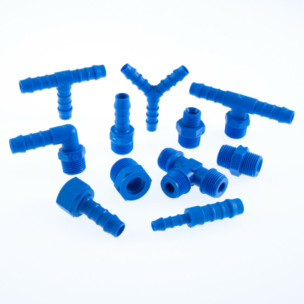 Tefen nylon bsp threaded pipe fittings hydraulics