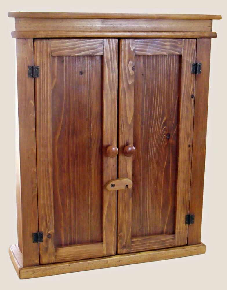 Maderaproductions Handmade Rustic Cedar Wood 2 Door Wall Cabinet 25 Ebay