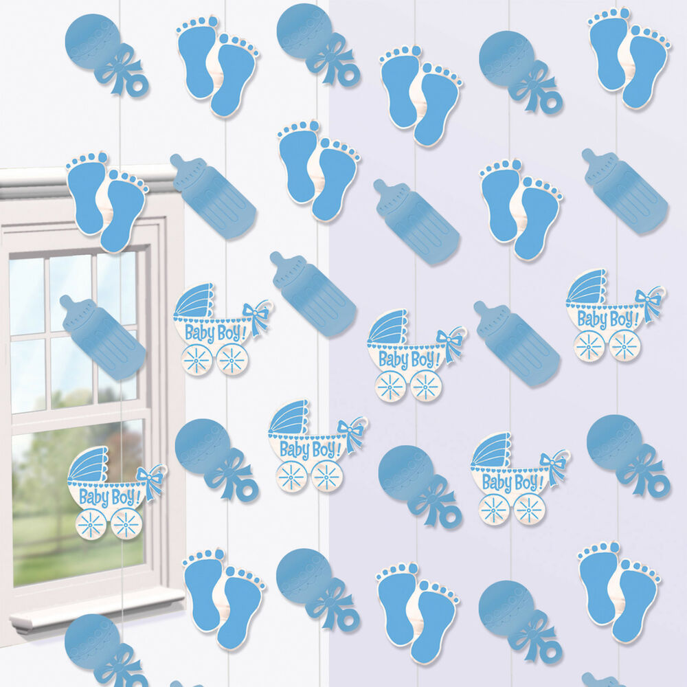 Baby Shower Boys Party Hanging String Decorations