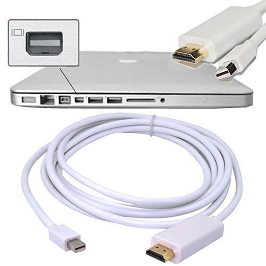 cable to hook up my mac to my tv Hello all, i am trying to coonect my laptop ( dell studio 1555 ) to my sony tv ( bravia kdlw4100 ) using an hdmi cable my laptop is running windows 7 home premium ed.