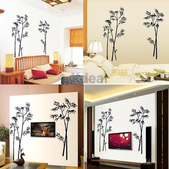 Bamboo Room Decorations: 2015 Bamboo Mural Art Black Vinyl Wall Sticker Decal Home