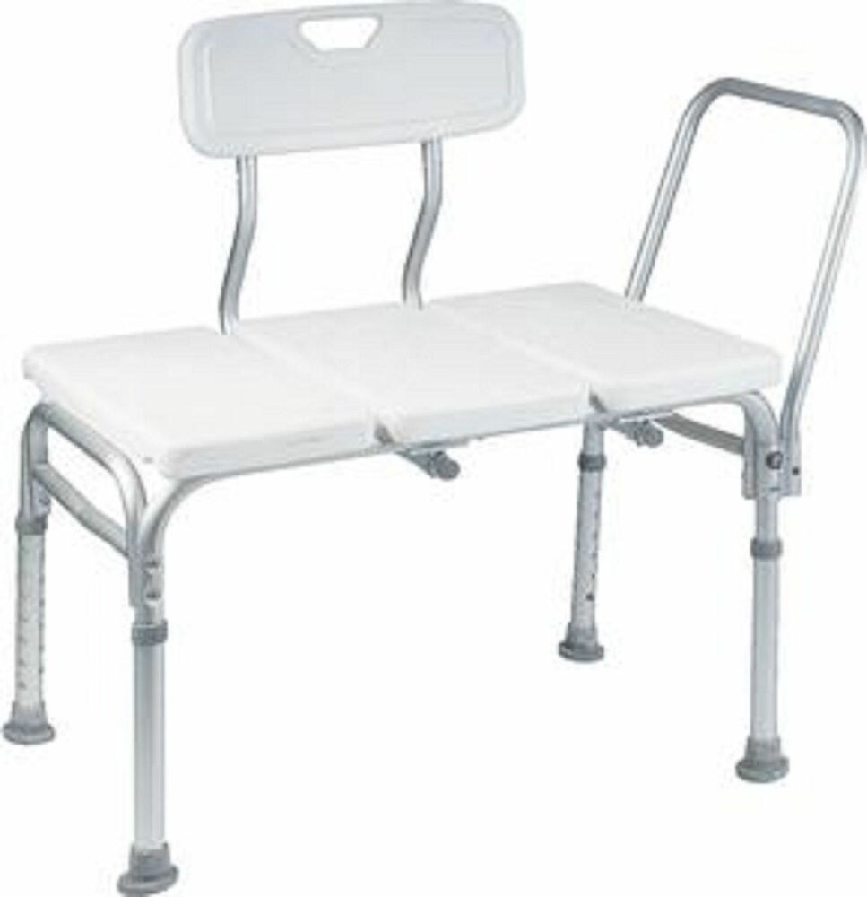 Heavy duty bath tub shower transfer bench stool shower chair ebay Bath bench